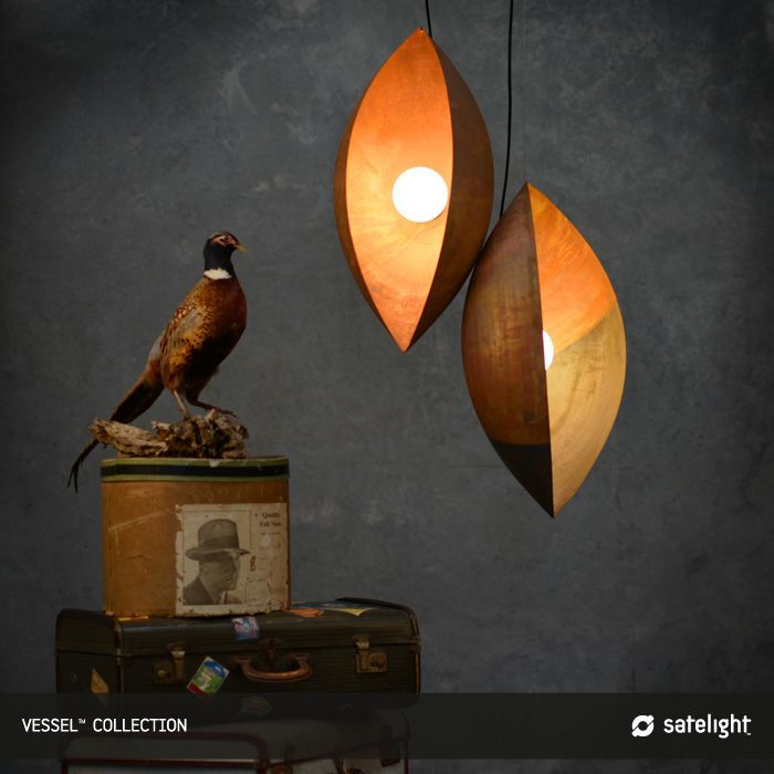 Marvelous Pair Pupae Shaped Copper Pendant Lighting Design Ideas Of Inspirationsl Copper Lighting Copper Pendant Lights