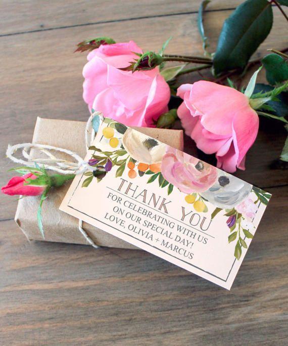 Wedding Favor Tags - Thank You Tag - Editable Tag - Bridal Shower ...
