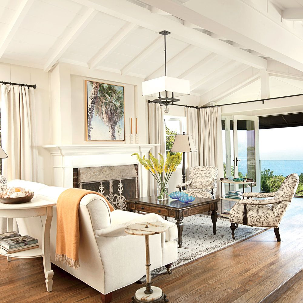 A Small 1920s House With Ocean Views Is Transformed Into An Airy Modern Abode Here How The Interi In 2020 Coastal Living Rooms Beach Living Room Beachy Living Room