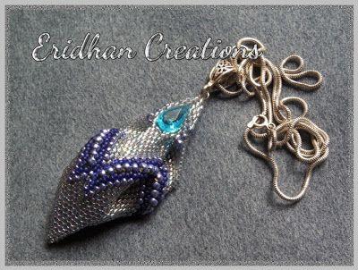 twisted peyote pendant