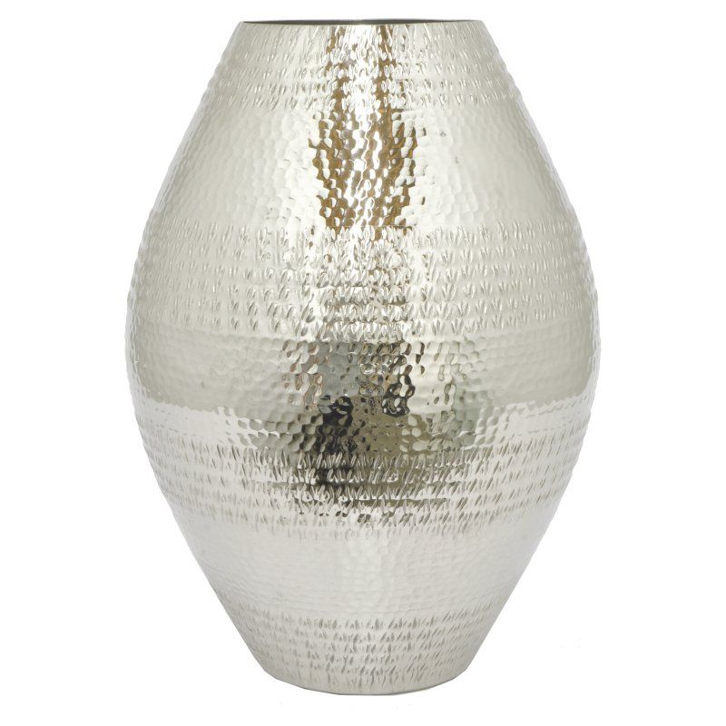 Three Hands Modern Silver Metal Vase 24010 Products Pinterest