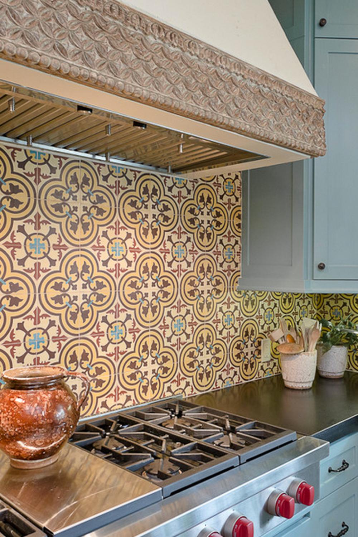 Cluny 888 A Patterned Tile Backsplash Spanish Tile Kitchen Kitchen Remodel