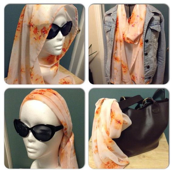 Lightweight Fashion Scarf by AmshinaApparel on Etsy