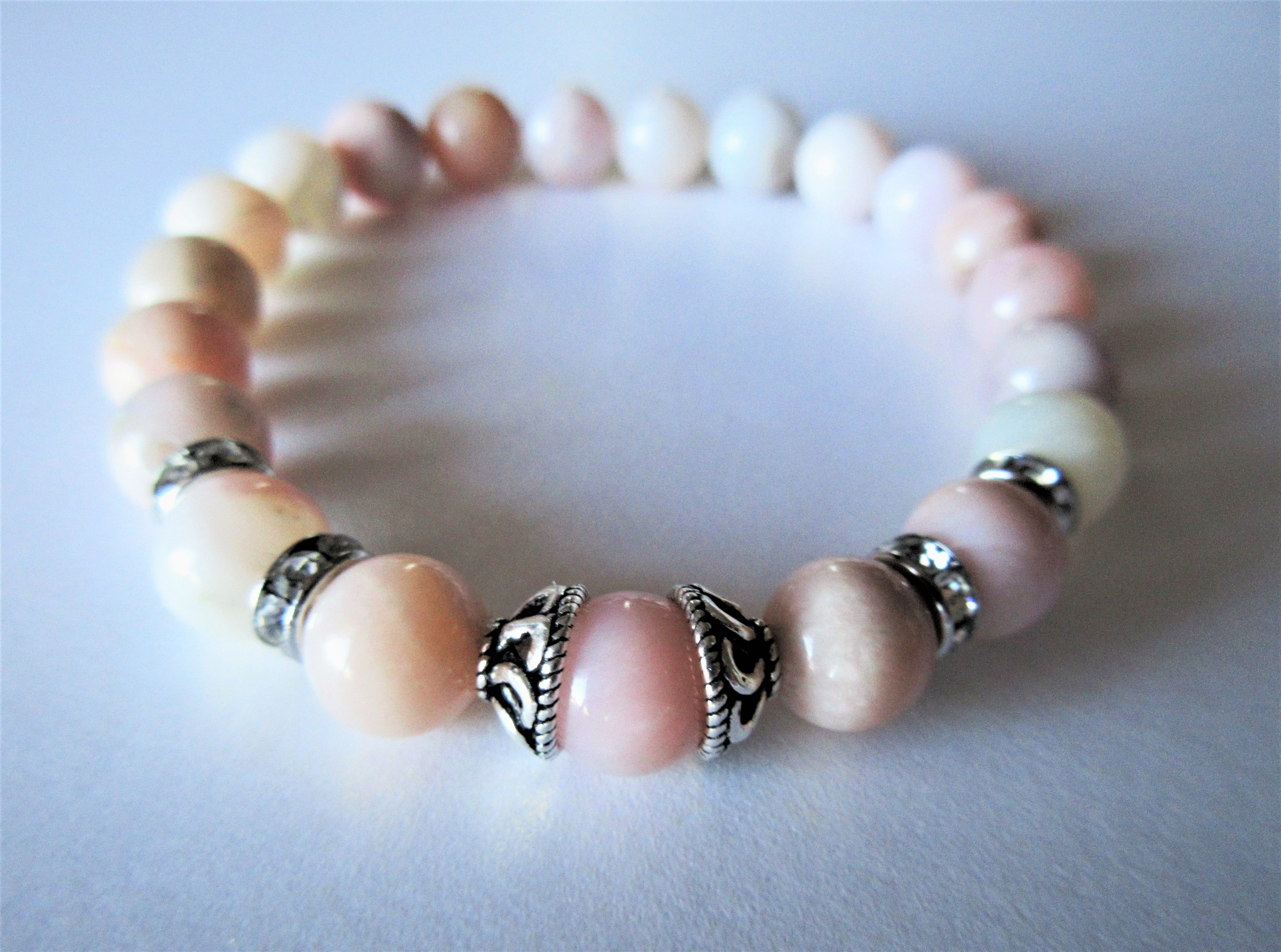 bead bracelet stack beadstack fullxfull il lips pink opal p hot