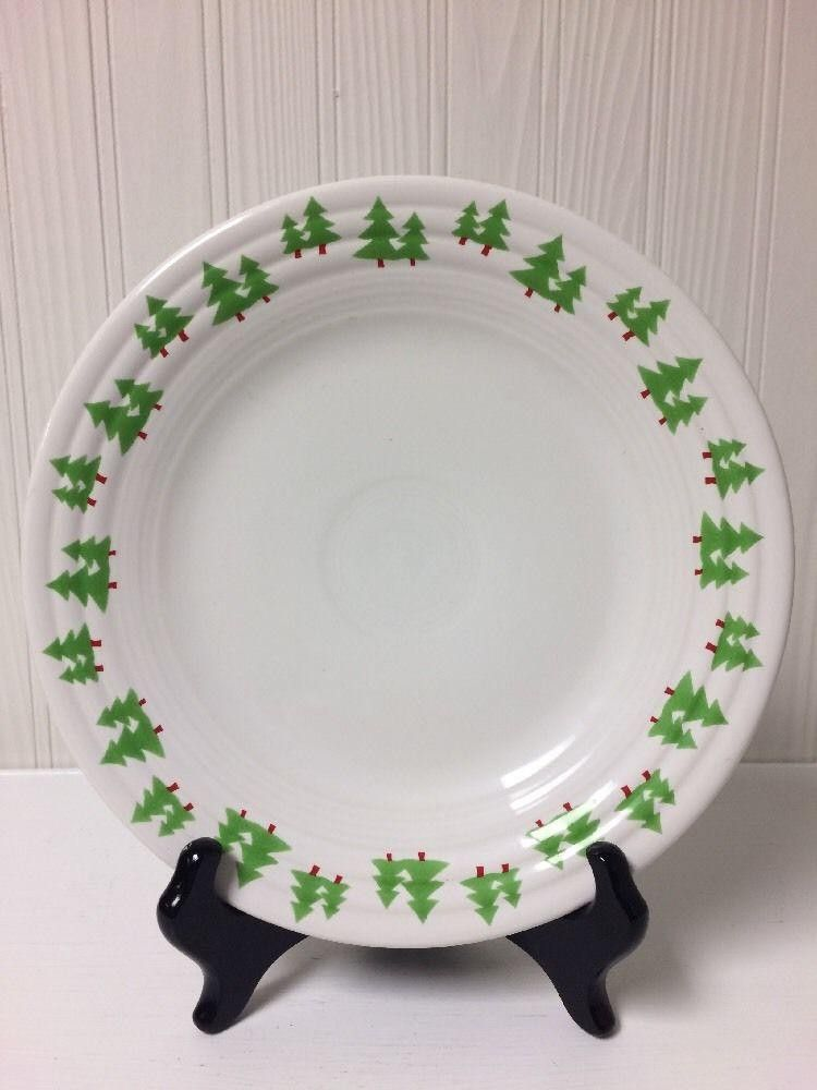 2007 Fiesta® Dinnerware Green Christmas Trees Luncheon Plate ~ Retired | WorthPoint : fiesta dinnerware christmas tree collection - pezcame.com