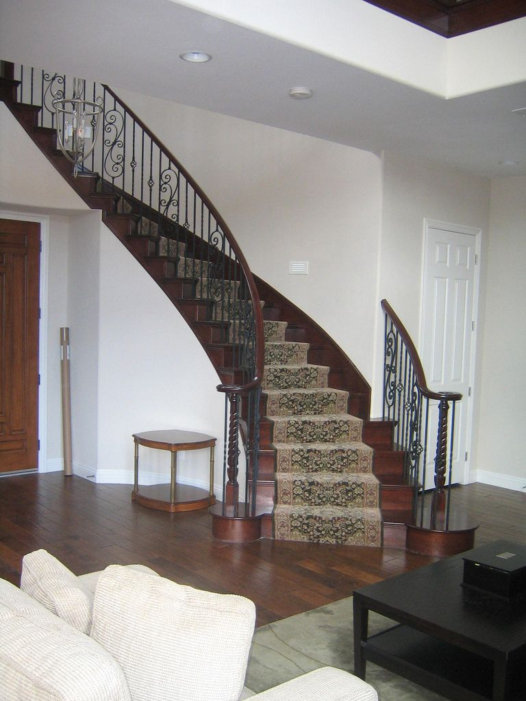 Best Solid Cherry Wood Steps With Carpet Runner Cherry Rail 640 x 480