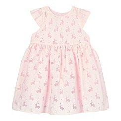 J by Jasper Conran - Girls' pink burnout bunny dress