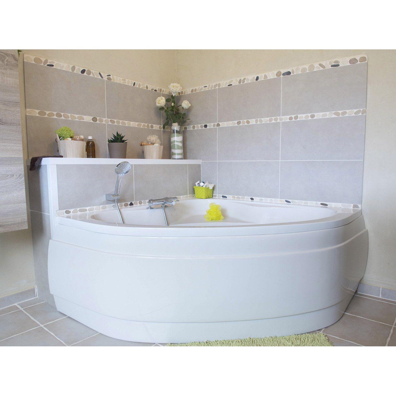 Brossette Salle De Bain Toulouse baignoire d'angle l.140x l.140 cm blanc, sensea access