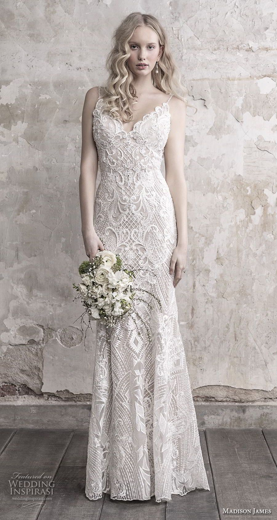Madison james fall wedding dresses in white dress and