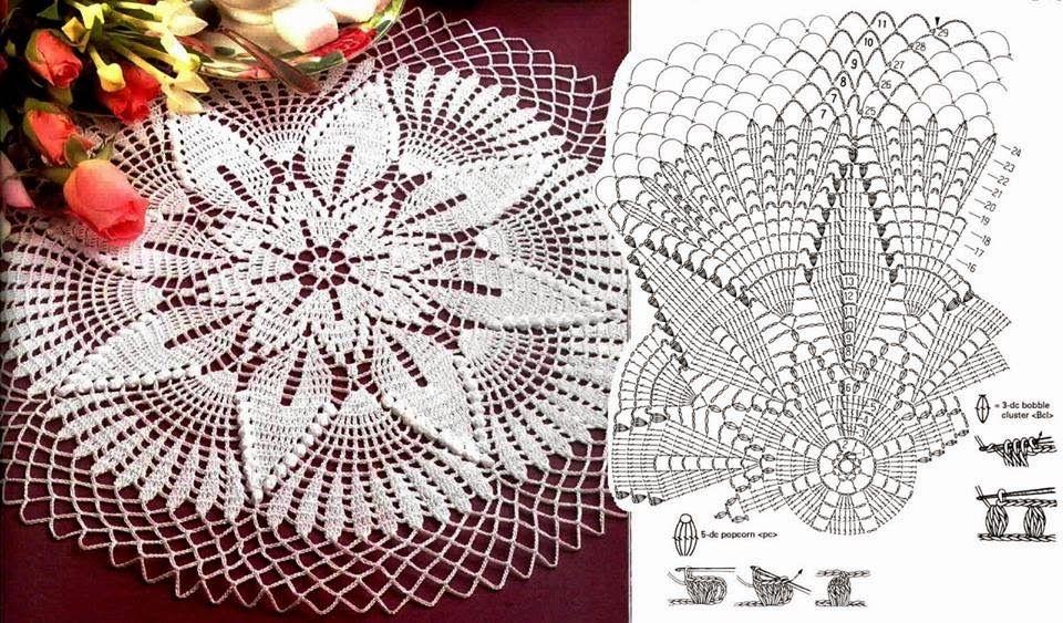 MB Crochê: Centro de mesa   Crochet Doily   Pinterest   Crochet ...