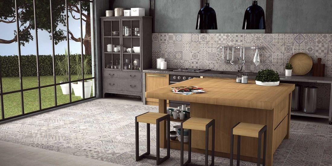 Carrelage imitation carreaux de ciment 7 id es tendance gris taupe ciment et taupe for Faience cuisine grise