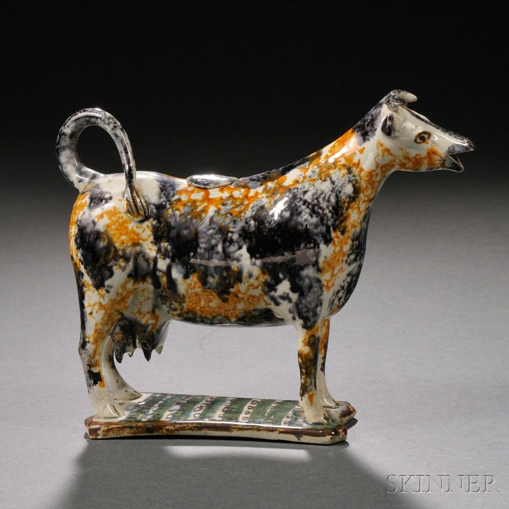 Staffordshire Earthenware Cow Creamer Sale Number 2663b Lot Number 1102 Skinner Auctioneers 523 Cow Creamer Porcelain Animal Country Cow