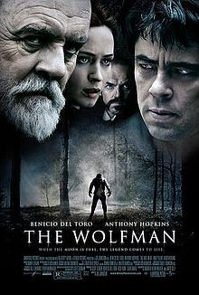 """..In this remake of the 1941 Lon Chaney classic The Wolfman, Benicio del Toro, all gloomy sorrow, portrays an actor, who, when investigating his brother's brutal death, is bitten by a dreadful beast, a werewolf, of course, who has been marauding around the wonderfully gothic dark and foggy moors.  In his turn, naturally enough, del Toro himself becomes a werewolf and rampages through the countryside, and London, wreaking havoc.  Anthony Hopkins, portraying del Toro's father, is…"