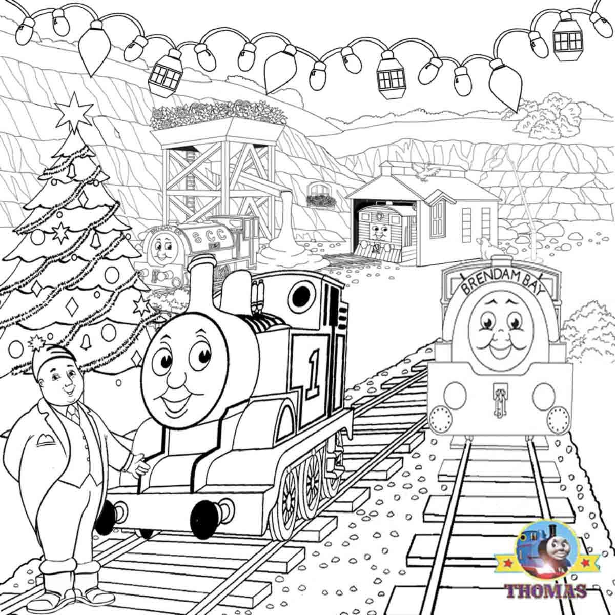 Fun Activities Printable Thomas Train And Friends Christmas Party Happy Xmas Coloring In 2020 Train Coloring Pages Free Christmas Coloring Pages Coloring Pages Winter