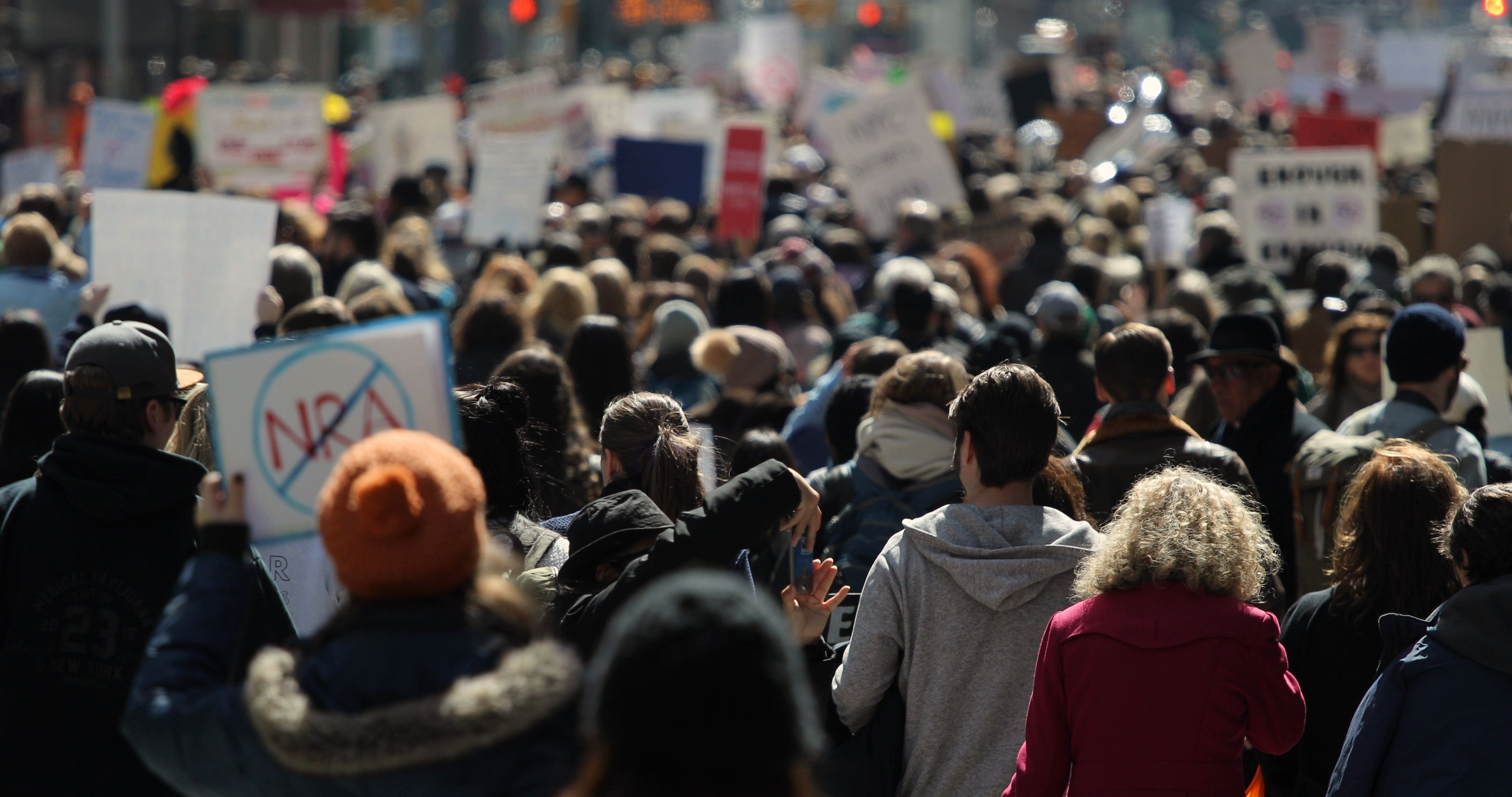 March Of Our Lives Protest In New York City 2018 Stock Footage Protest York March Lives York City New York City City