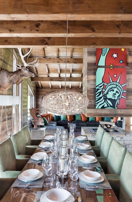 One Oak Chalet in French Alps | DECORACION + Arte incluido ...