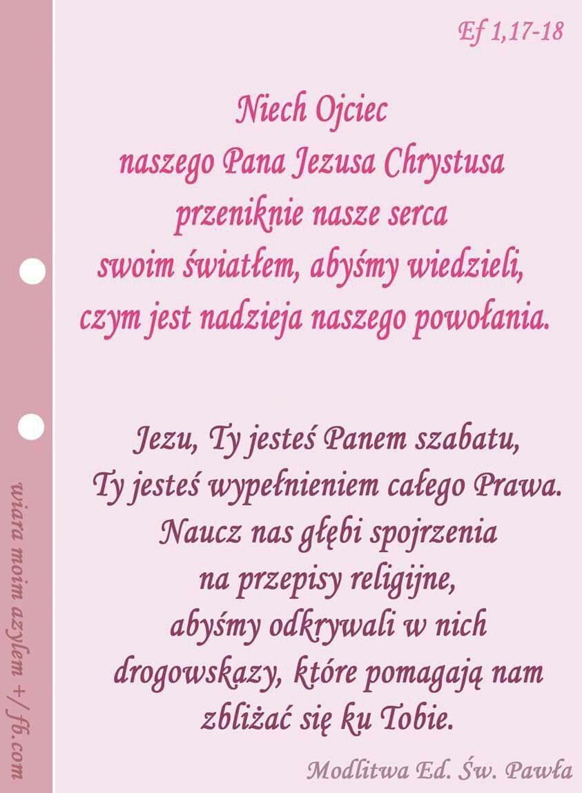 Pin By Wieslawa Poleszuk On Modlitwy Modlitwa Wiara Ojcowie