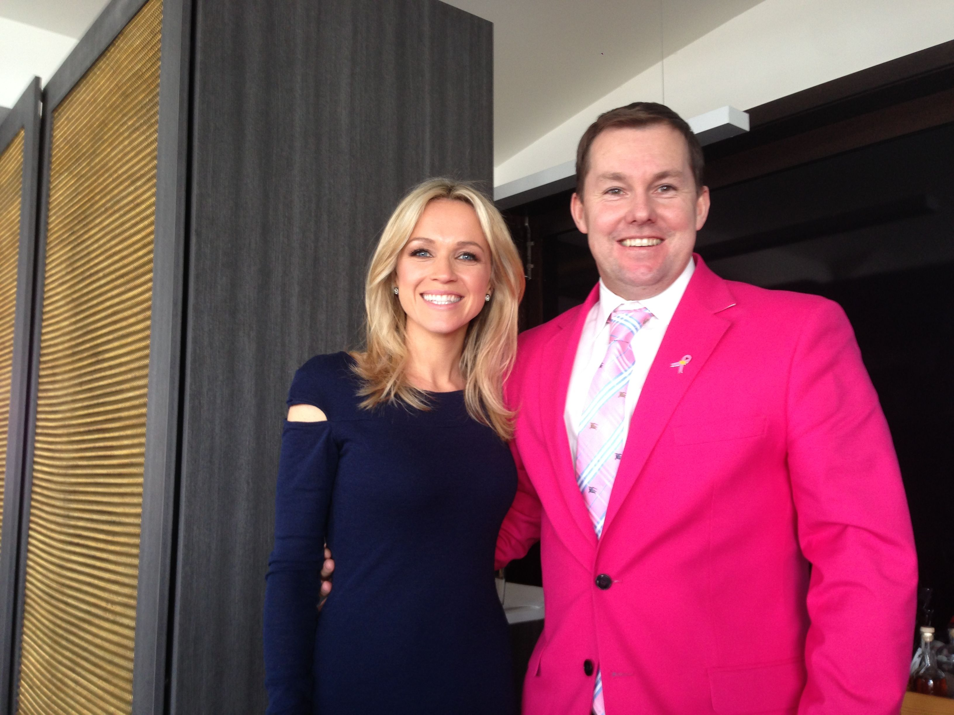 Auctioneer Will Hampson with Channel 7's Sarah Cummings at Ormeggio on the Spit for Lunch as part of the Aqua dinning series week. Very Pleased to announce we raised over $75,000 in 5 days for Cancer Council NSW... #Fighting #Cancer #Saving #Lives #Charity #Auctions #Helping #People