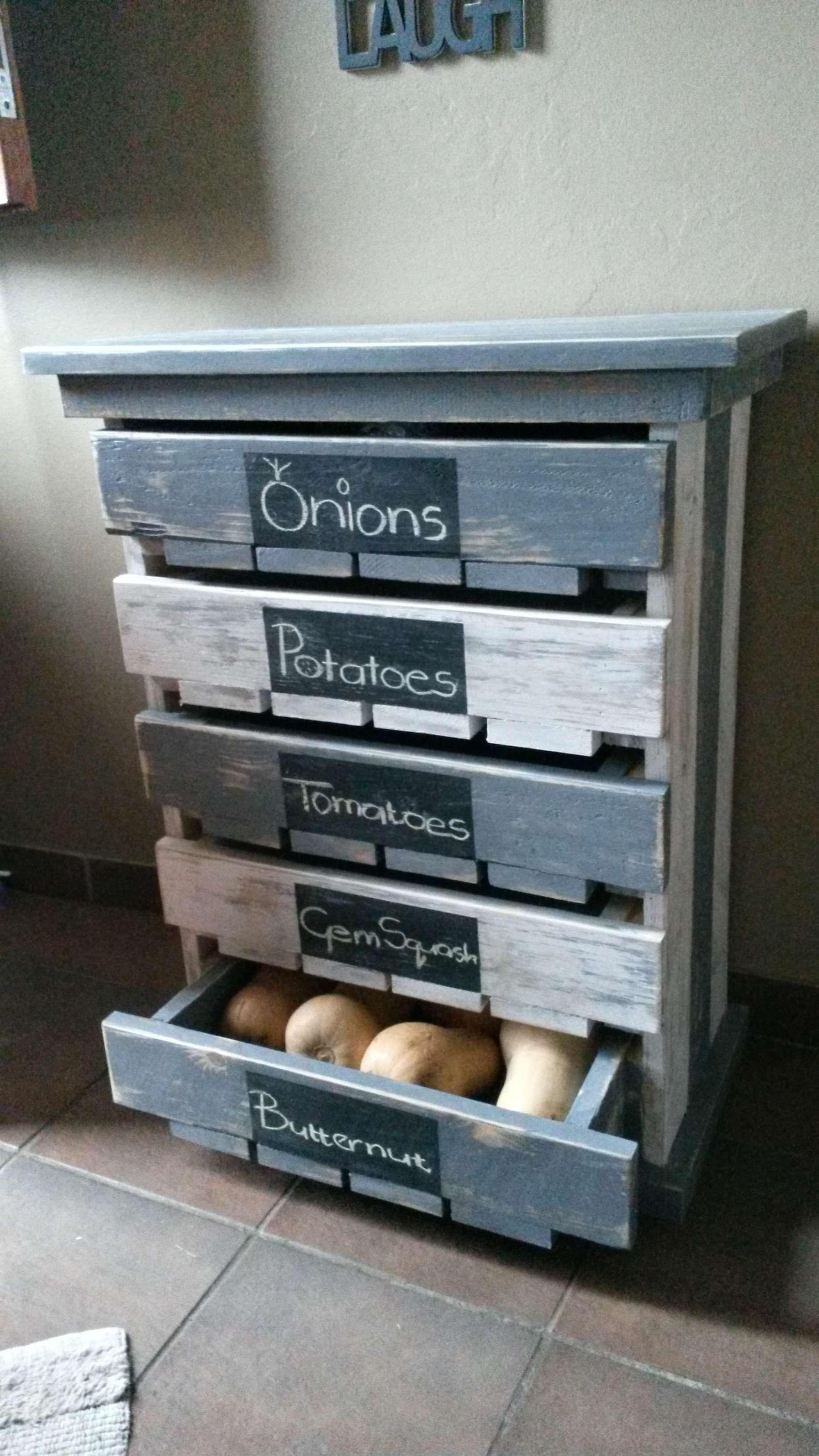 Veggie fruit storage rack pinterest storage rack pallets and