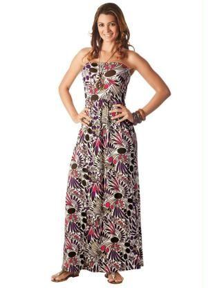 4c1e8e6529 Vestido Longo Tomara que Caia Estampado Vestidos Vestido Longo Moda Feminina