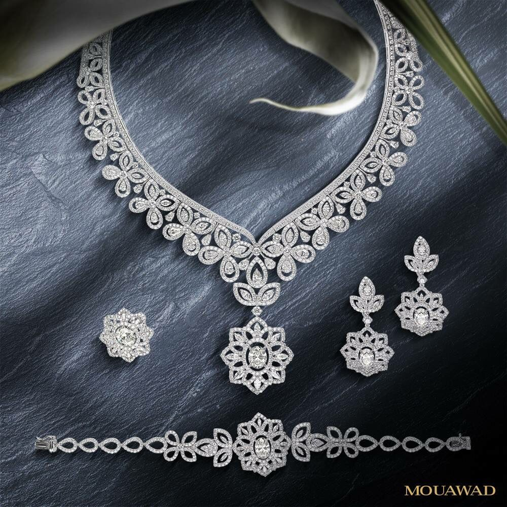Mouawad high jewelry sets diamond necklaces pinterest high