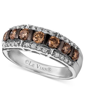 Le Vian Diamond Chocolate And White Band 1 6 Ct