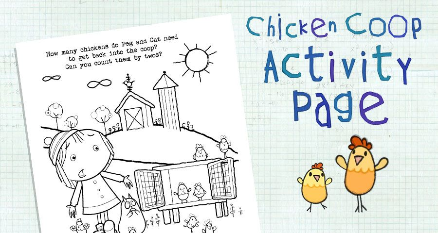 Chicken Coop Coloring Page Cats Cat Activity Coloring Pages