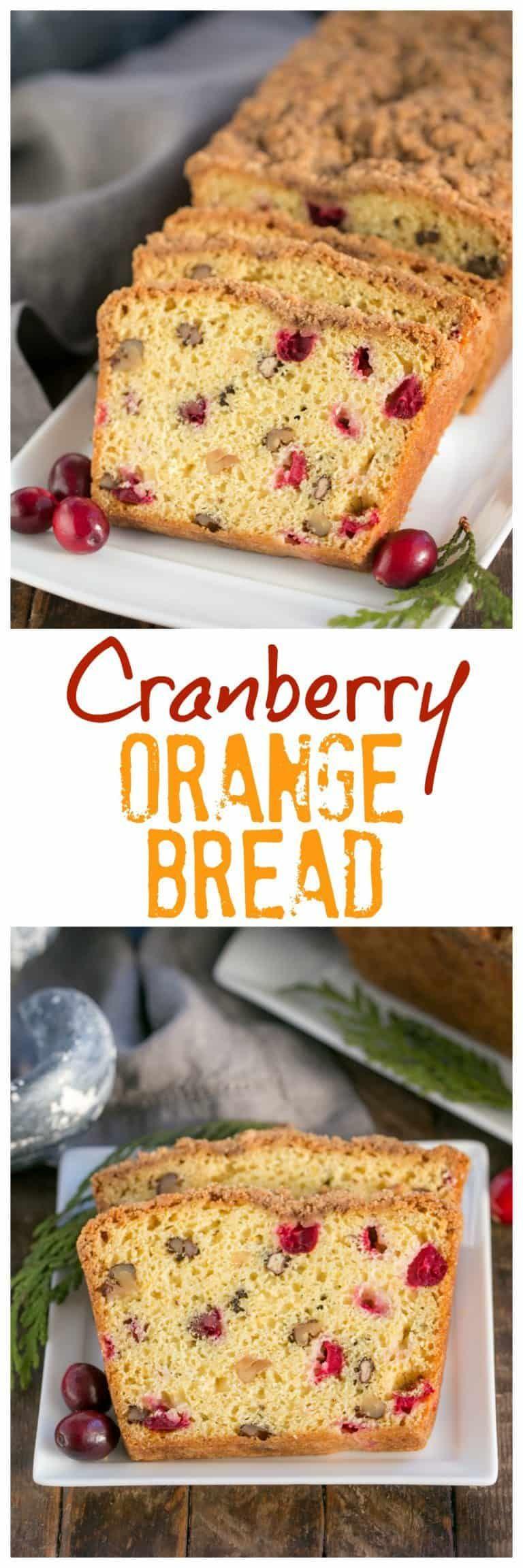 Streusel Topped Cranberry Orange Walnut Bread Moist