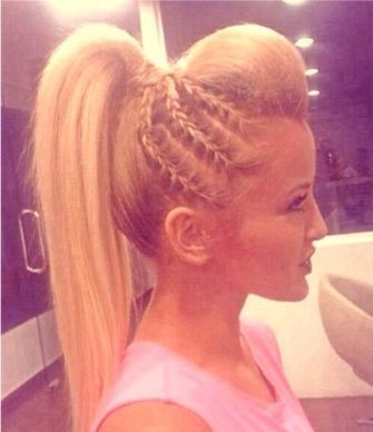 cher lloyd hairstyles : Cheer Hair on Pinterest Softball Hair Braids, Cheer Hairstyles ...