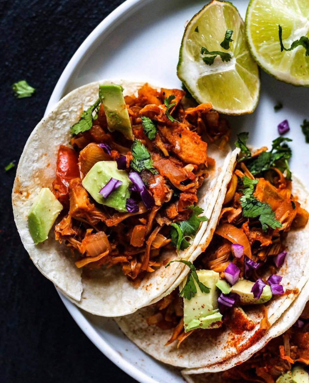 Oil Free Spicy Vegan Jackfruit Tacos Recipe In 2020 Jackfruit Tacos Jackfruit Delicious Vegan Recipes