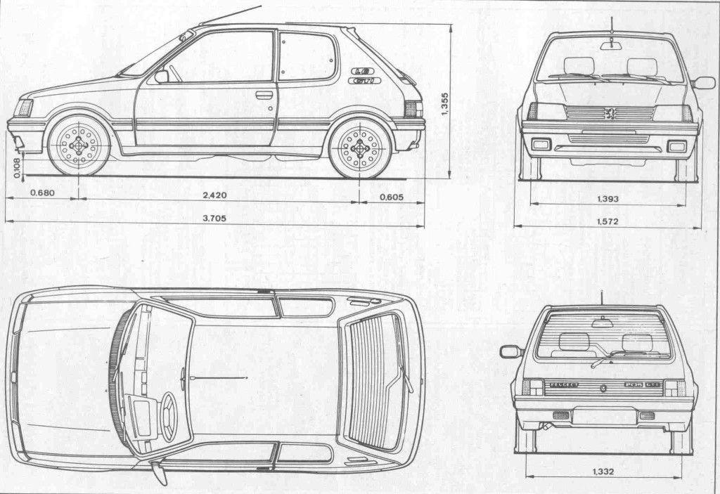 Peugeot 205 Blueprint Download Free Blueprint For 3d Modeling Peugeot Volkswagen Up Blueprints