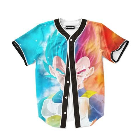 DBZ Vegeta Super Saiyan God Blue SSGSS Baseball Jersey  DBZ  Vegeta   SuperSaiyan  God  Blue  SSGSS  Baseball  Jersey 0cd4b3b5d