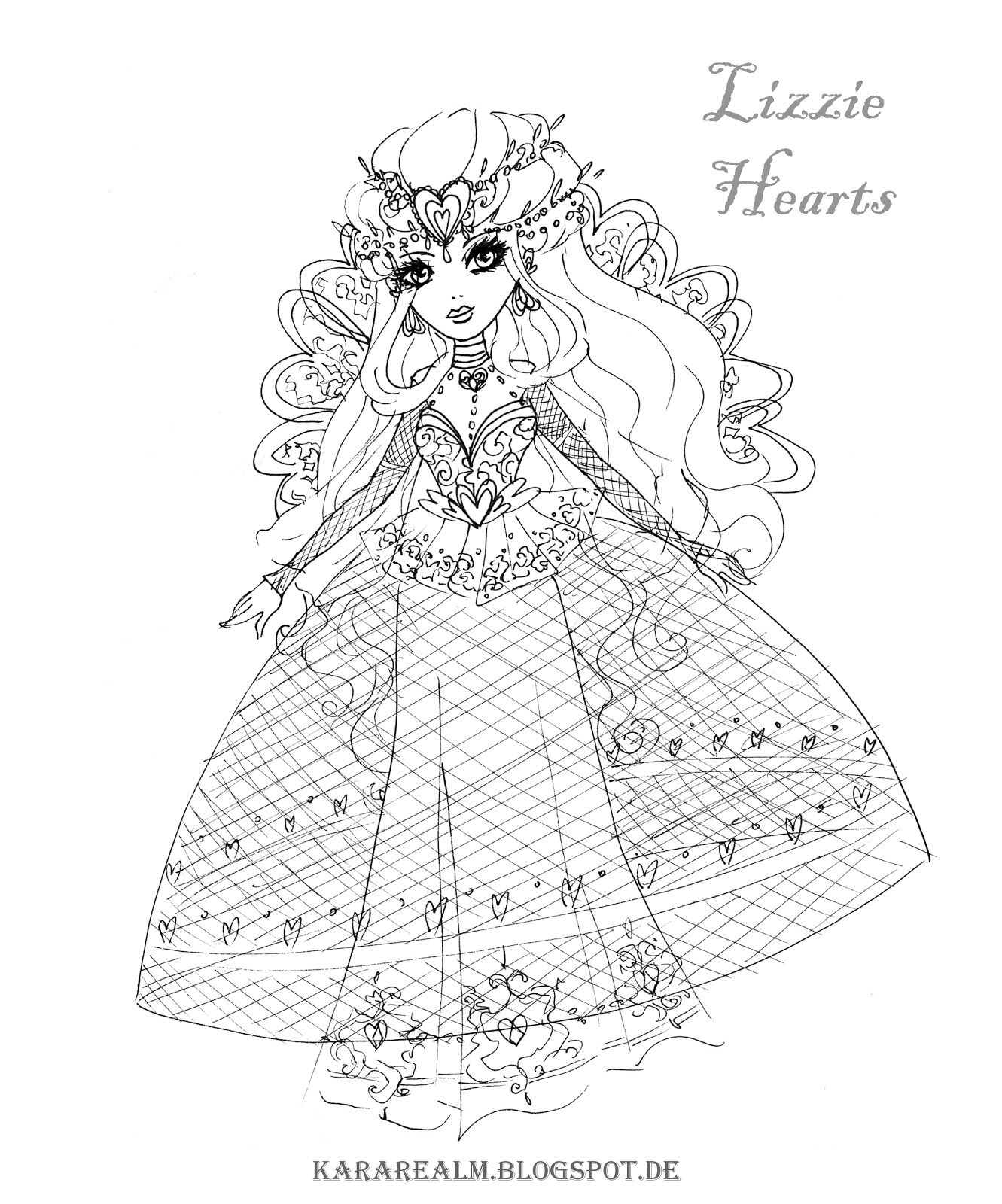 Ever After High Coloring Pages Heart Coloring Pages Coloring Pages Cartoon Coloring Pages