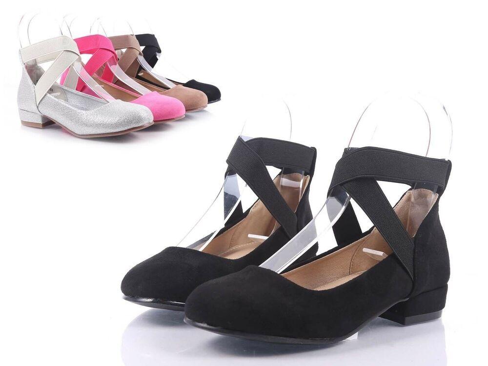 Pink Cross-Strap Slip-on Kids Kitten Heels Girls Youth Dress Shoes Size 10