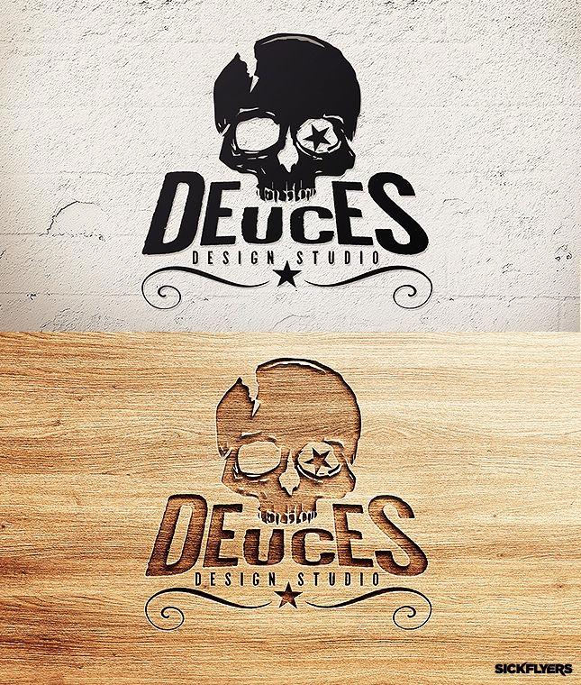 Skull Logo Template   Deuces Logo