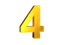 Four 4 3d Numbers Gold Png Image With Transparent Background Png Free Png Images Gold Clipart Transparent Background Image