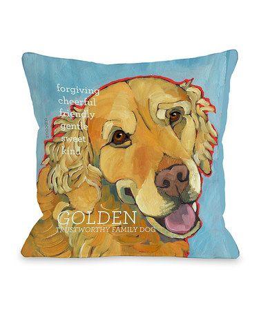 Light Blue Golden Retriever Throw Pillow Zulily Animais Sobre O Amor Ilustração