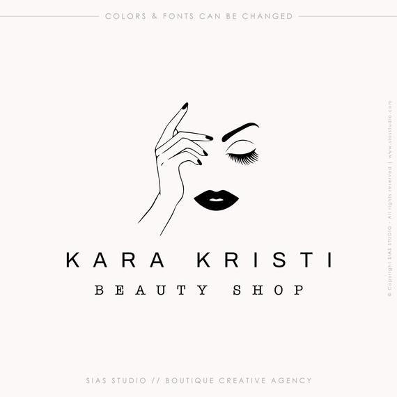 Beauty logo design, Nail art logo, Beauty shop logo, Logo with woman's face, Boutique logo, Permanent make-up logo, Professional brand