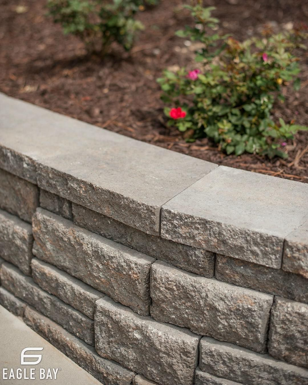 Retaining Wall Landscapers Near Me: Retaining Walls Turned Planters. Perfect. #eaglebay