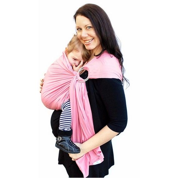 Ring Sling Baby Carrier Petal Pink Baby Basics Extra Superwide