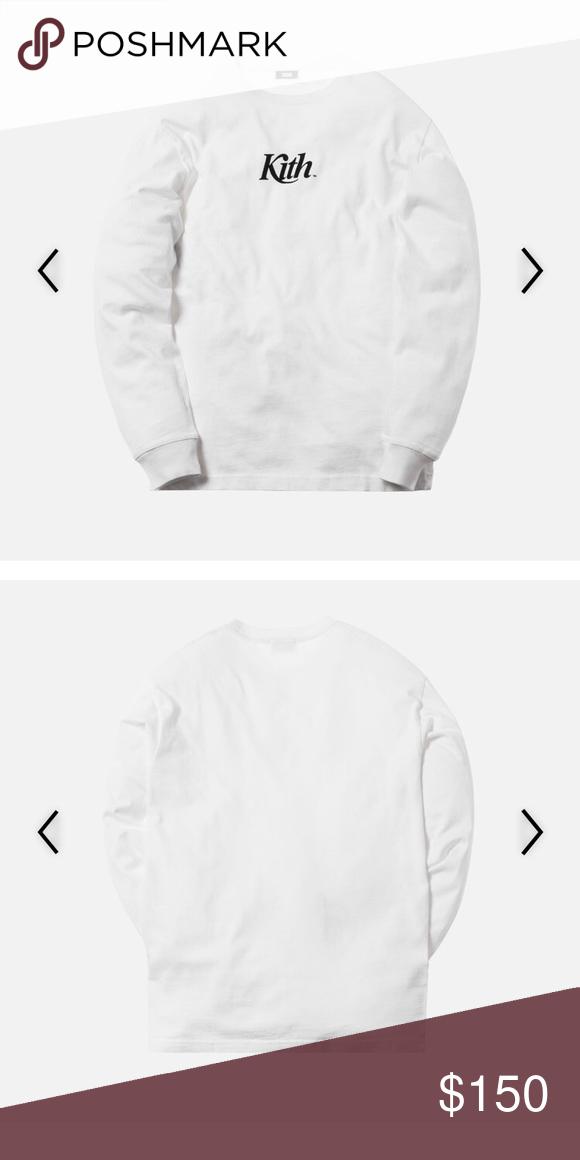 KITH Pigment Dyed Swash L/S Tee White XL Shirt New KITH