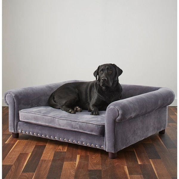 Enchanted Home Pet Ultra Plush Jackson Grey Velvet Wood