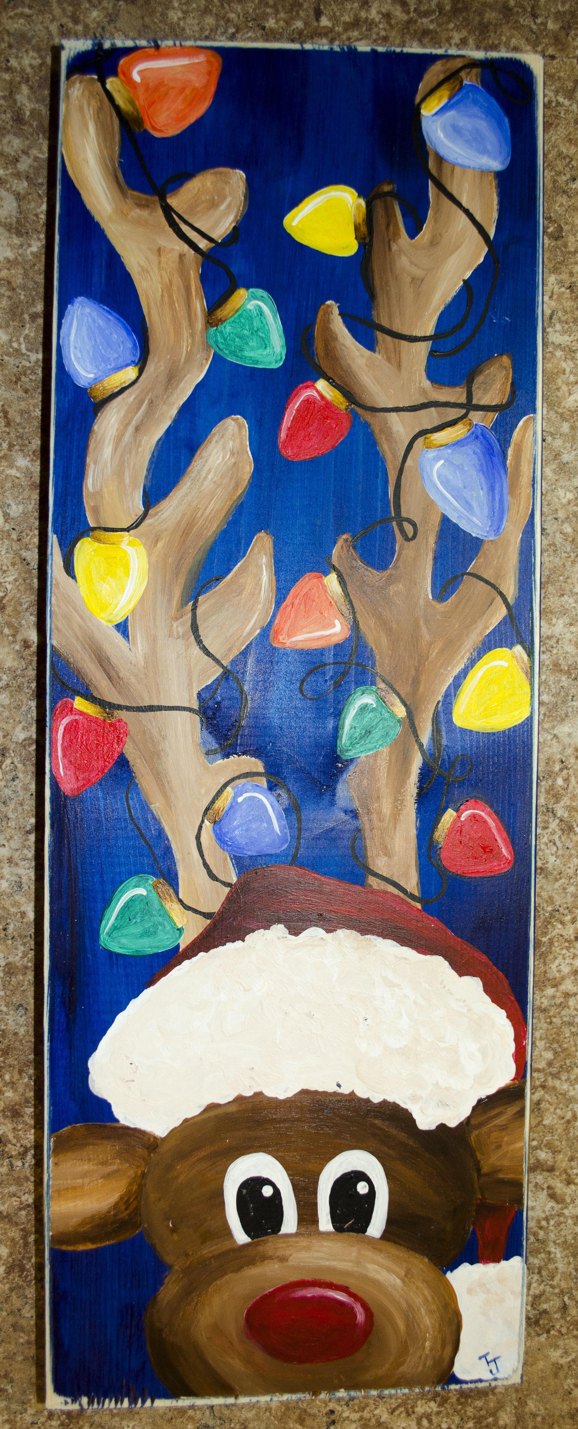 Christmas gift with images christmas paintings diy