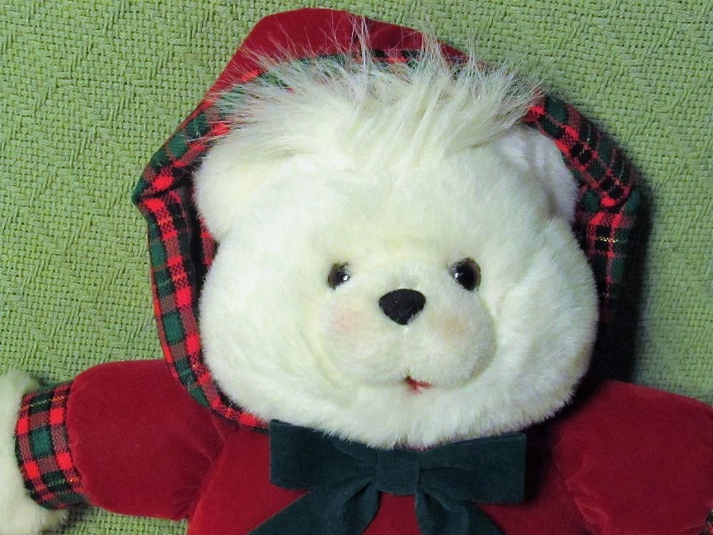 Vintage K Mart Christmas TEDDY BEAR 1993 14\