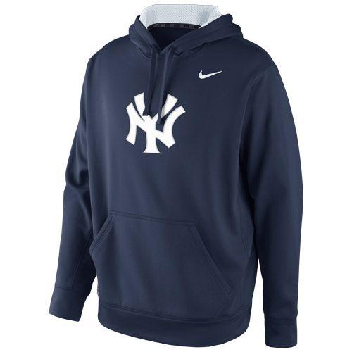 New York Yankees KO Wordmark Therma-FIT Hooded Sweatshirt by Nike - MLB.com Shop