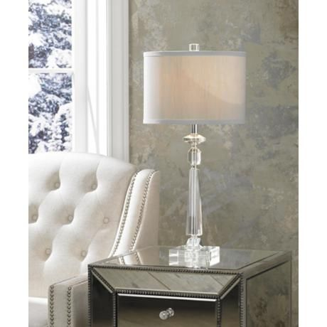 Aline Modern Crystal Table Lamp by Vienna Full Spectrum | Tabletop ...