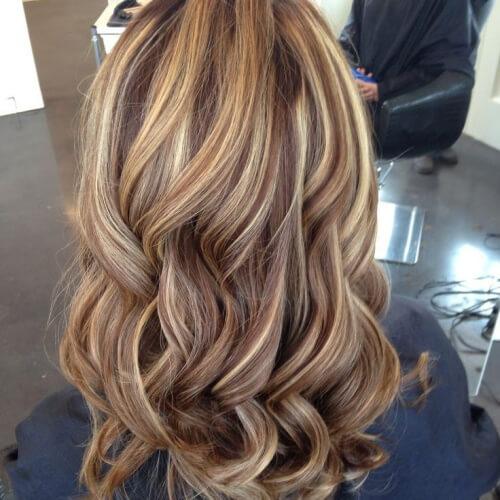 Haare highlights braune blonde Braune Haare