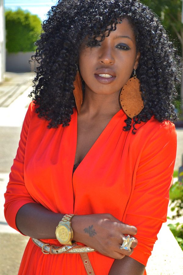 Vintage Wrap Midi Dress Curly Hair Styles Naturally Natural Hair Styles Beautiful Natural Hair