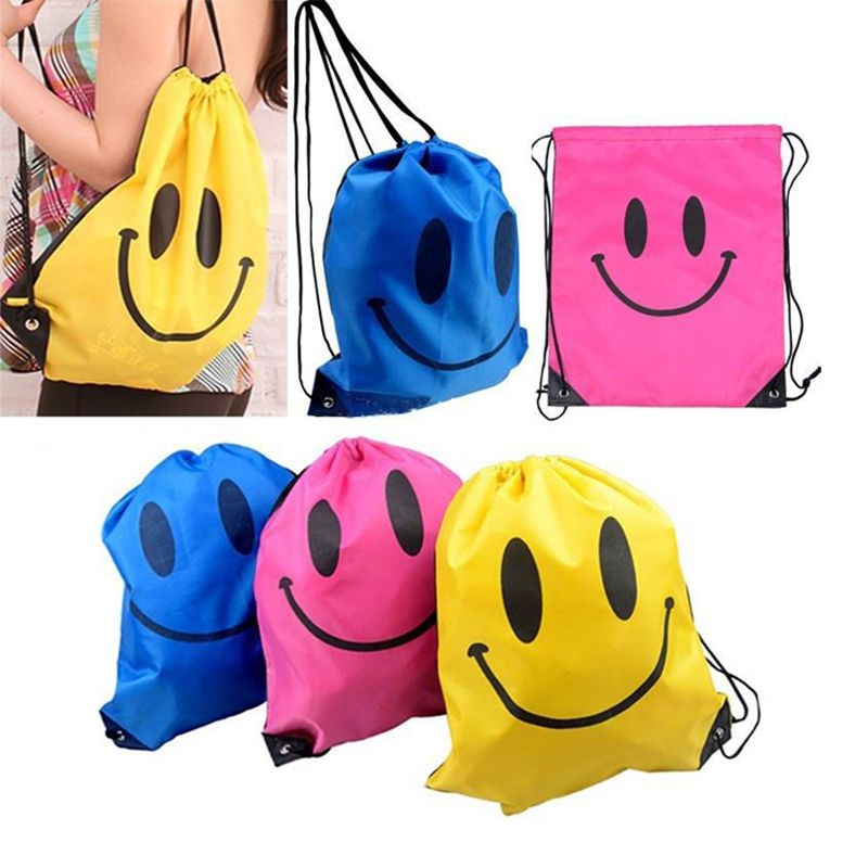 2016 New Face Drawstring Bag Polyester Swimming School Bags For ...