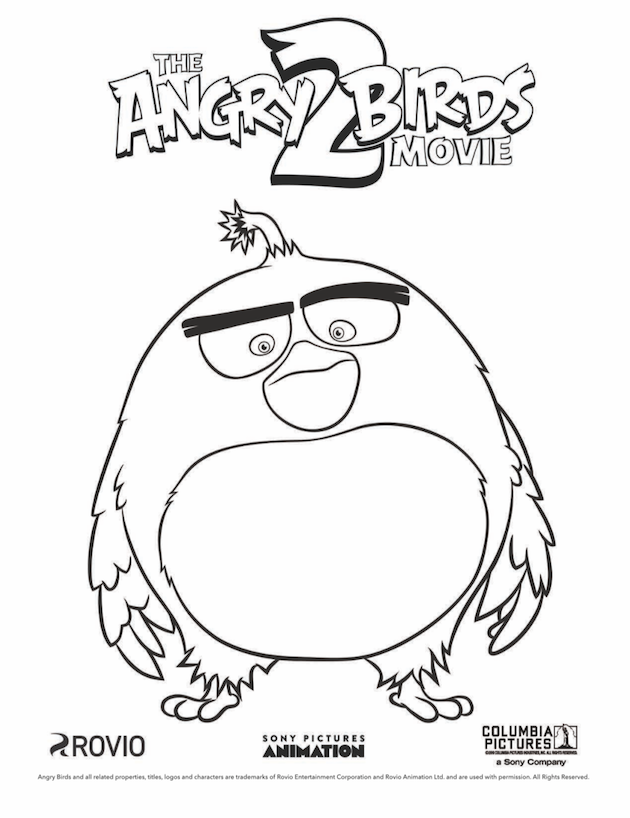 Free Printable Angry Birds Coloring Pages Pictures